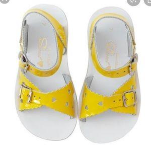 Girls Yellow Salt Water Sandals